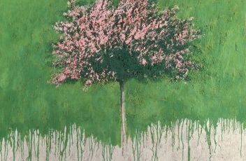 4. Carlo Mattioli Paesaggio, 1980, olio su tela cm 150x120